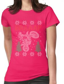 Motocross Braaap Christmas Womens Fitted T-Shirt