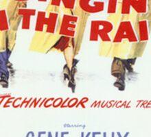 Singin' In The Rain Classic Movie Poster Sticker