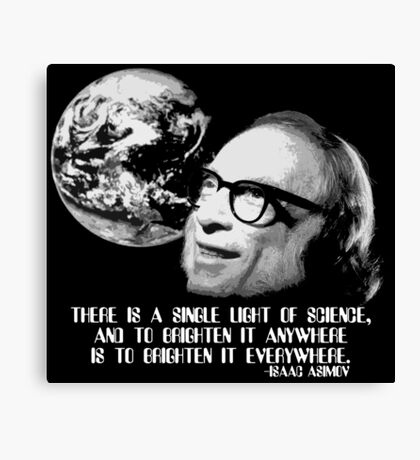 There is a Single Light of Science Canvas Print