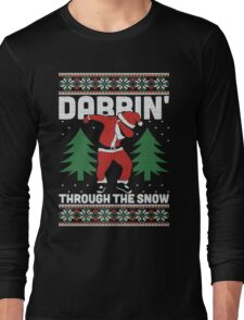 Christmas Dabbin Through The Snow Long Sleeve T-Shirt