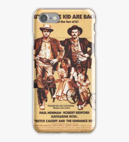 Butch Cassidy and the Sundance Kid Classic Movie Poster iPhone Case/Skin