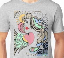 girl face to the world Unisex T-Shirt