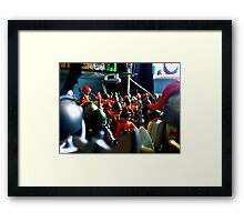 Garrison of Toys Framed Print