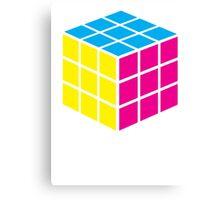 CMYK Cube Canvas Print