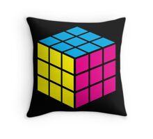CMYK Cube Throw Pillow