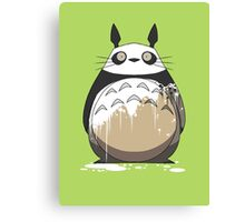 Totoro Painting Panda Canvas Print