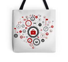 Medicine gear wheel Tote Bag