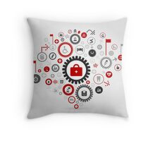 Medicine gear wheel Throw Pillow