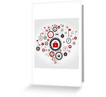 Medicine gear wheel Greeting Card