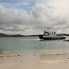 MV Loch Buie leaving Iona by Jonathan Cox