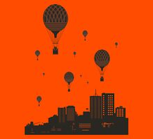Balloons and the city Unisex T-Shirt