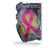 Abstract Breast cancer Greeting Card