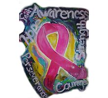 Abstract Breast cancer Photographic Print