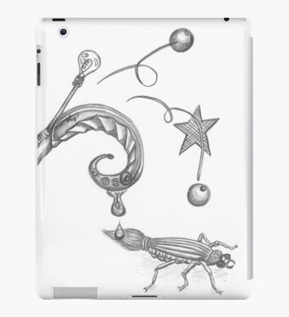 Creative Juices black and white iPad Case/Skin