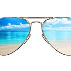 beach glasses by dopeststickers