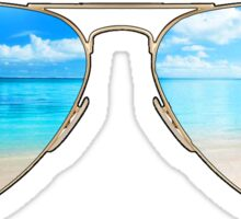 beach glasses Sticker