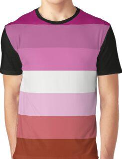 Lesbian Pride Flag Graphic T-Shirt