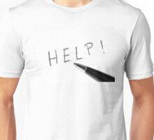 Pen Help Black White Unisex T-Shirt
