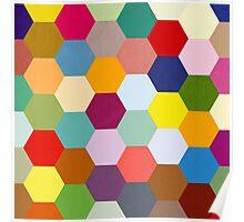 Hexagonal Patchwork  Poster