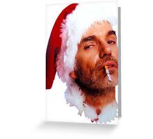 Bad Santa Smoking Greeting Card