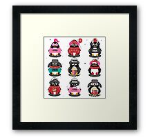 Merry Christmas Penguin Framed Print