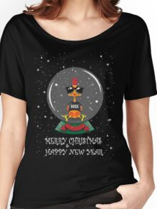 Christmas Rooster Women's Relaxed Fit T-Shirt