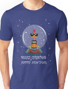 Christmas Rooster Unisex T-Shirt