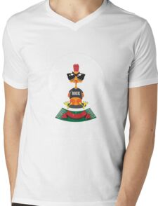Christmas Rooster Mens V-Neck T-Shirt