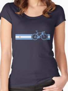 Bike Stripes Argentina Women's Fitted Scoop T-Shirt