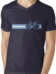 Bike Stripes Argentina Mens V-Neck T-Shirt