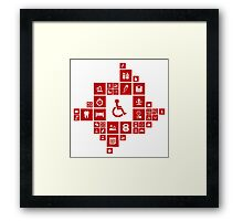 Medicine the designer Framed Print