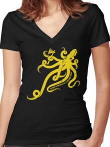 Asha Kraken Women's Fitted V-Neck T-Shirt
