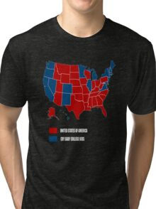 UNITED STATES OF AMERICA ELECTION MAP SHIRT Tri-blend T-Shirt