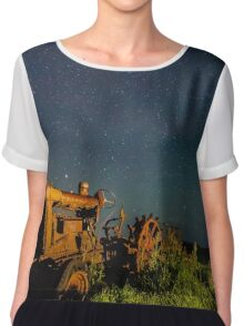 Vintage Ford son tractor Chiffon Top