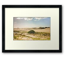 Dunes of Cariló Beach in Argentina Framed Print