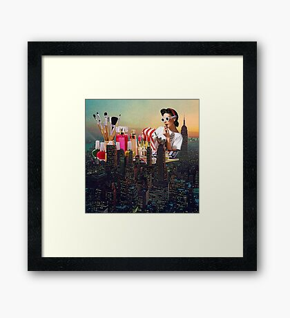 Urban Camouflage Framed Print