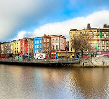 Rivery Liffey In The Heart of Old Dublin Ireland by Mark Tisdale