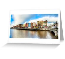 Rivery Liffey In The Heart of Old Dublin Ireland Greeting Card