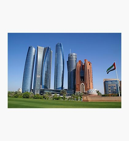 Skyscrapers, Abu Dhabi Photographic Print