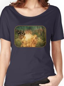 Victorian Christmas ~ White Santa Women's Relaxed Fit T-Shirt