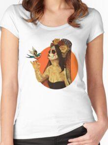 Calavera Princess Women's Fitted Scoop T-Shirt
