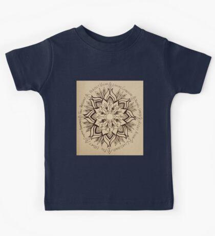 Wheel Mandala of Dharma  Kids Tee