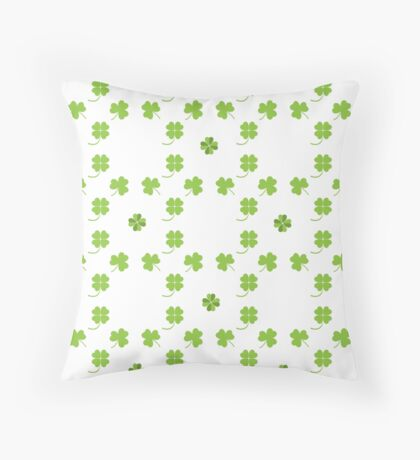 Nice picture from various pieces of clover located around Throw Pillow