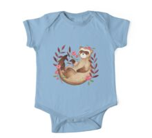 floral ferret bud One Piece - Short Sleeve