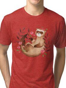 floral ferret bud Tri-blend T-Shirt