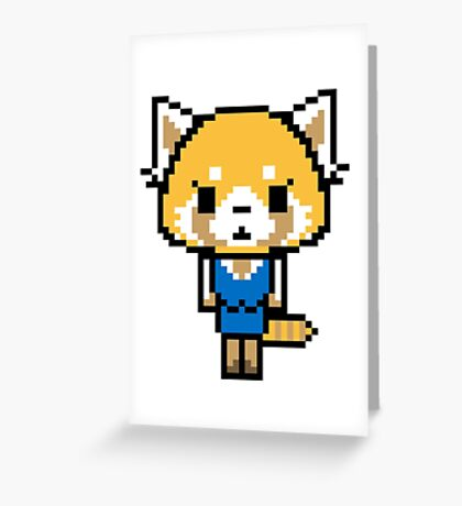 Pixel Retsuko Greeting Card