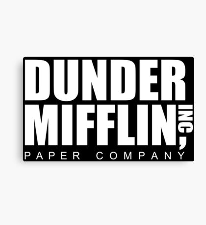 DUNDER Paper Company Canvas Print