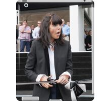 Claudia Winkleman cuts the ribbon iPad Case/Skin