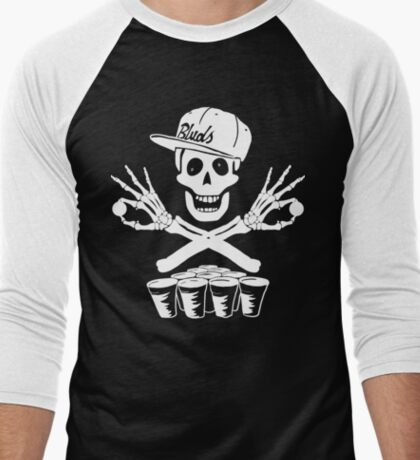Pong Pirates Men's Baseball ¾ T-Shirt