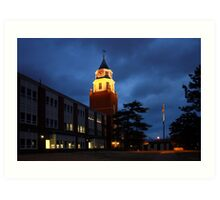 Pulliam Hall Clock Tower Art Print